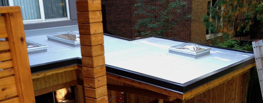 Residential Flat Roof with Skylight